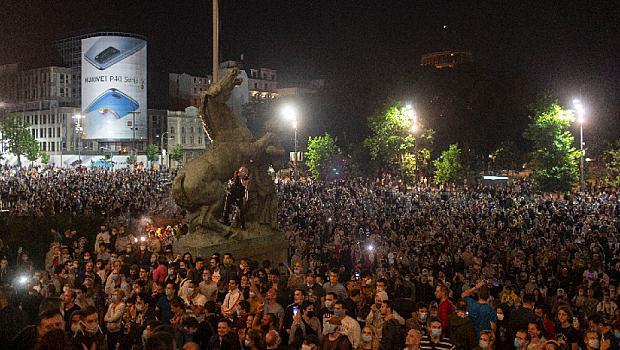 Безредици и  ранени в Белград