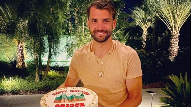 Григор Димитров с торта с българското знаме за ЧРД
