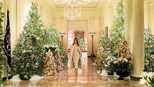 Мелания се готви за Коледа в Белия дом