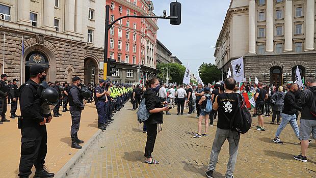 """8 души арестувани на протест на """"Възраждане"""""""