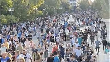 Протести срещу задължителната ваксинация в Гърция