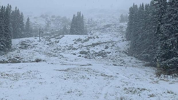 Сняг и в София